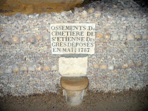 De ondergrondse begraafplaats van parijs gids toerisme recreatie - Ondergrondse kamer ...